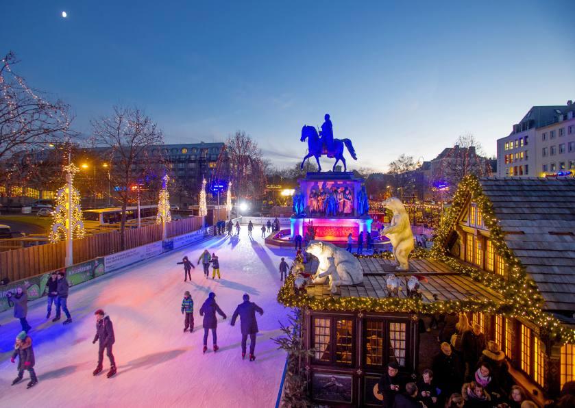 Auf dem Kölner Heumarkt wird es eine riesige Eislaufbahn geben. copyright: Heinzels Wintermärchen Köln