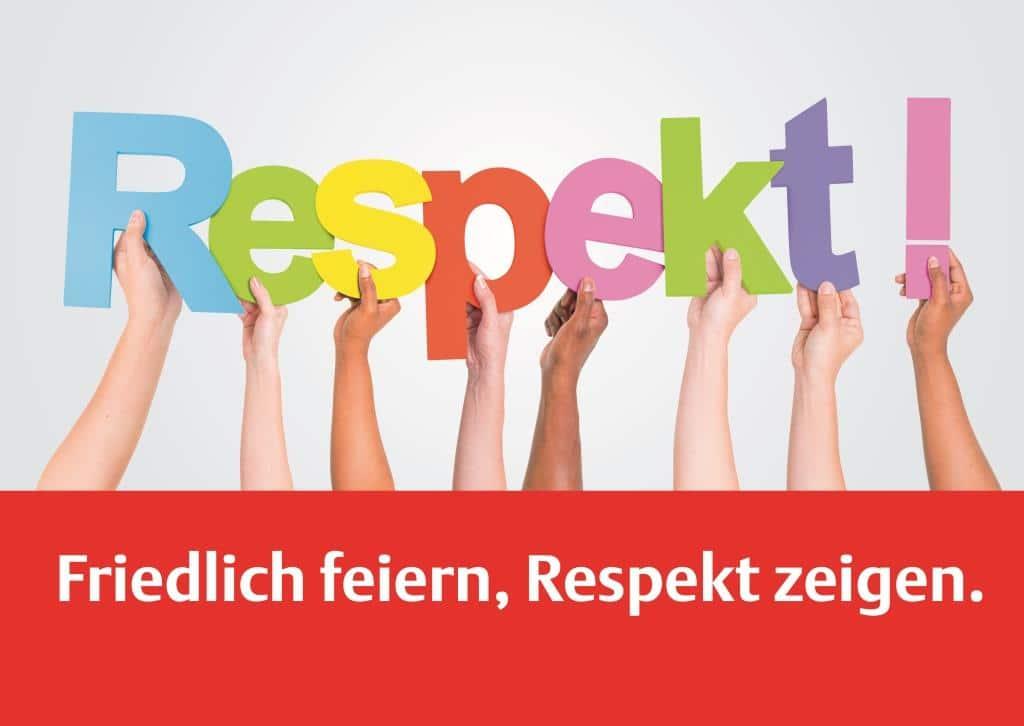 Respekt-Kampagne wird fortgesetzt copyright: Stadt Köln