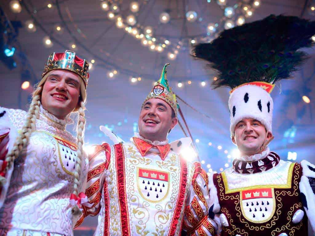 Prinz, Bauer und Jungfrau: Das Kölner Dreigestirn copyright: Festkomitee Kölner Karneval / Costa Belibasakis