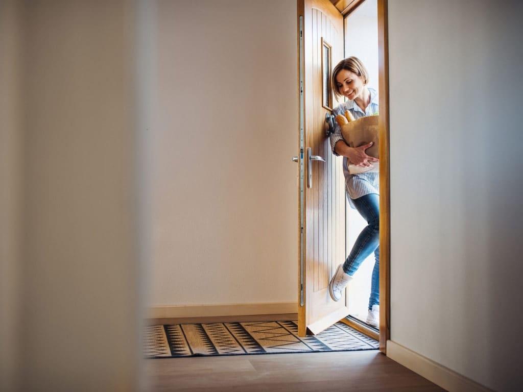 Die Haustür Als Blickpunkt Visitenkarte Und