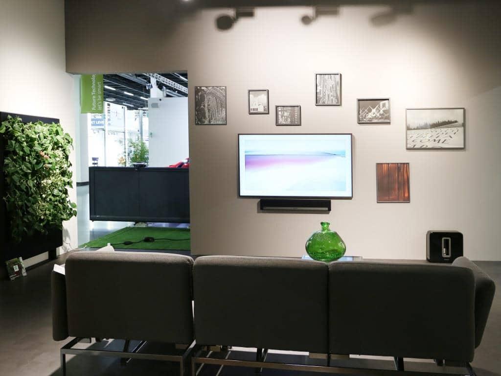 Der Fernseher wird zum Kunstwerk copyrights: Let´s be smart / Koelnmesse GmbH