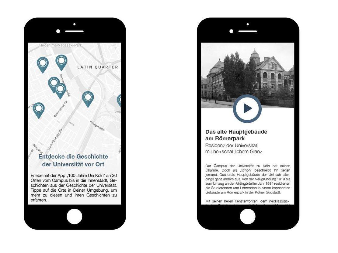 Kölner Uni-Geschichte digital erleben copyright: Screenshot Universität zu Köln