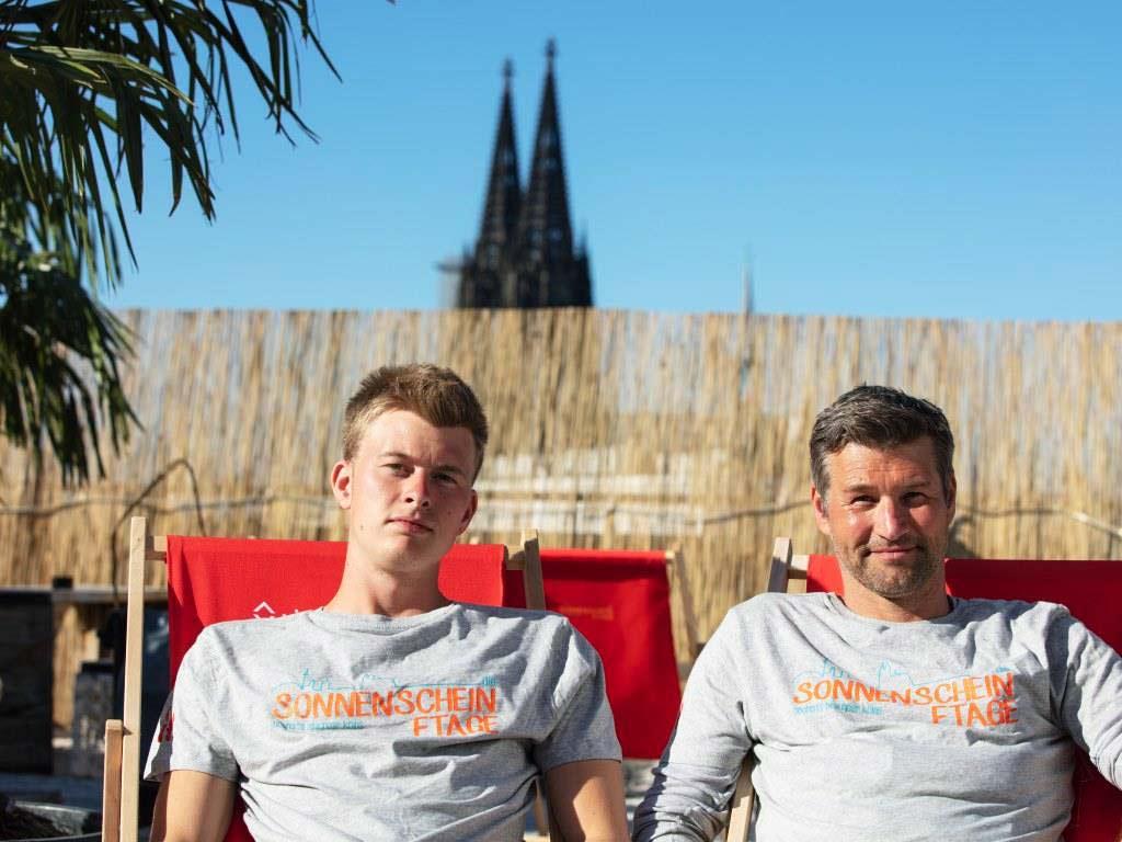 Ab Samstag. 18. Mai 2019 starten Nico und Andi Keunecke in die Open-Air-Saison auf der Kölner SonnenscheinEtage. copyright: CityNEWS / Alex Weis