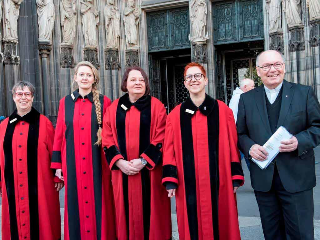 Vorgestellt wurde das Quartett von Kölns Dompropst Gerd Bachner. copyright: Hohe Domkirche Köln, Dombauhütte; Foto: J. Rumbach