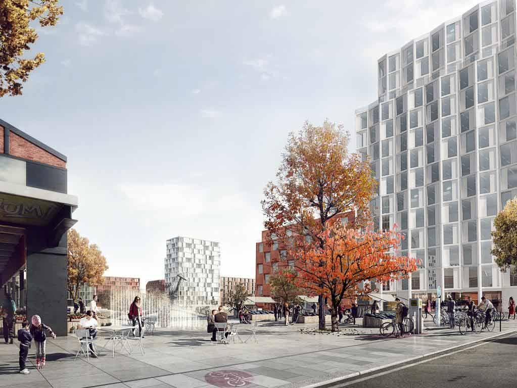 In dem neuen Veedel sollen Grün- und Freiflächen mit Aufenthaltsqualität integriert werden. copyright: moderne stadt, Köln / Cobe Architect
