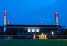 Kölner Stadion erstrahlt am Diversity-Tag in den Regenbogenfarben copyright: RheinEnergie / Joachim Rieger