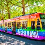 Regenbogen-Bahn der KVB zum ColognePride und CSD 2019 in Köln copyright: KVB / Christoph Seelbach