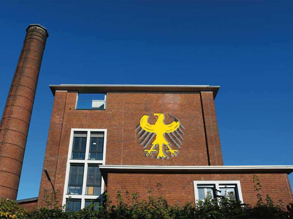 Kölner Bananenkunst: der Bundesbananenadler im Leskanpark copyright: Atelier Thomas Baumgärtel / Foto: Luiza Brack