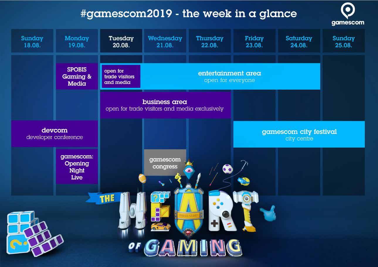 Die gamescom 2019 in Köln im der Übersicht copyright: Koelnmesse / gamescom