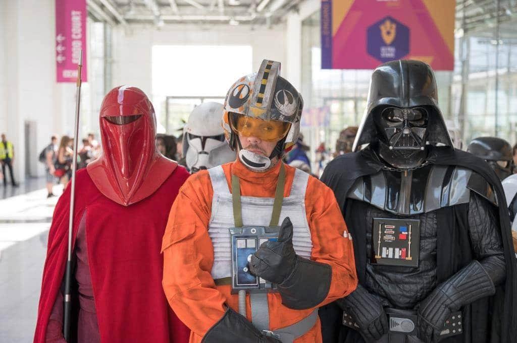 Auch Star Wars-Fans kommen auf einer rund 1.000 qm großen Themenfläche in Halle 7 der Comic Con in Köln voll auf ihre Kosten. copyright: Koelnmesse GmbH / Oliver Wachenfeld