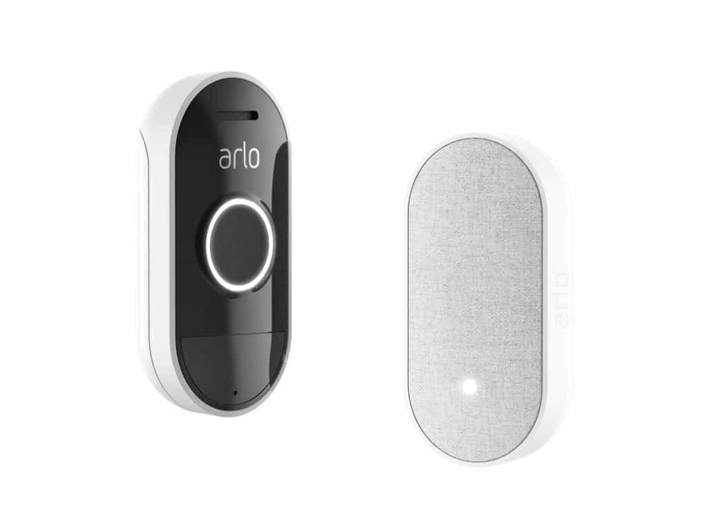 Noch mehr Komfort und Sicherheit im Smart Home bietet die intelligente Türklingel Audio Doorbell und die Erweiterung Chime. copyright: Arlo