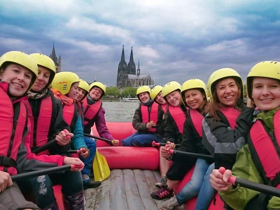 """Auch Rhein-Rafting steht auf dem Programm der Veranstaltungsreihe """"Urlaub in Köln"""". copyright: Wupperkanu"""