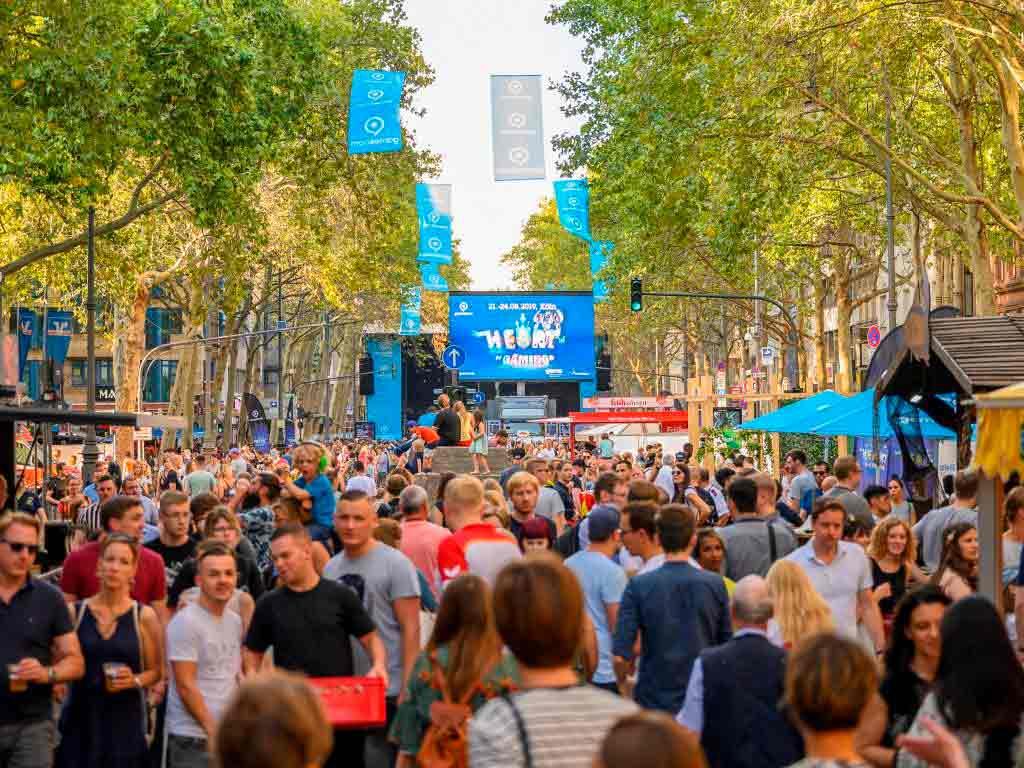 Mehr als 100.000 Besucher zusätzlich wurden zum gamescom city festival in der Rheinmetropole erwartet. copyright: Koelnmesse GmbH / Oliver Wachenfeld