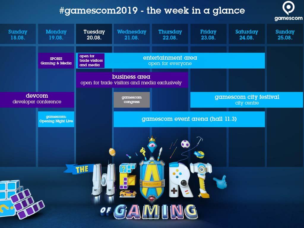 Zwischen Kongressen, Entertainment und Spielen: Die gamescom 2019 im Wochen-Überblick copyright: Koelnmesse