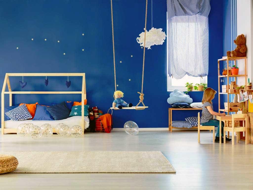 Gedeckte Farben schaffen Ruhe im Kinderzimmer copyright: Envato / bialasiewicz