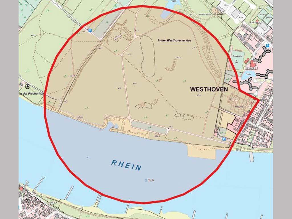 Der Blindgänger aus Köln-Lindenthal wird in Westhoven kontrolliert gesprengt werden. copyright: Stadt Köln