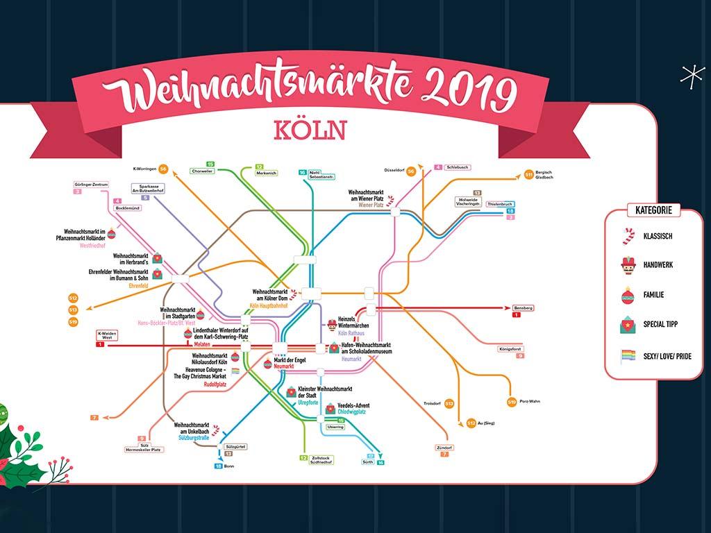 Alle großen Weihnachtsmärkte in Köln sind gut mit Bus und Bahn zu erreichen copyright: Travelcircus