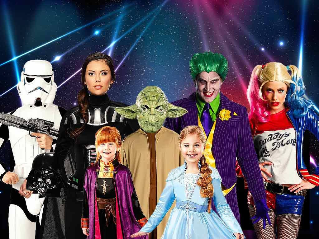 Vor allem Outfits der Leinwand-Helden und Helden der Kindheit werden zu den Kostüm-Trends 2020 zählen. copyright: MASKWORLD