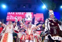 Das Kölner Dreigestirn 2020: Prinz Christian II. (Christian Krath), Bauer Frank (Frank Breuer) und Jungfrau Griet (Ralf Schumacher) copyright: Festkomitee Kölner Karneval / Costa Belibasakis