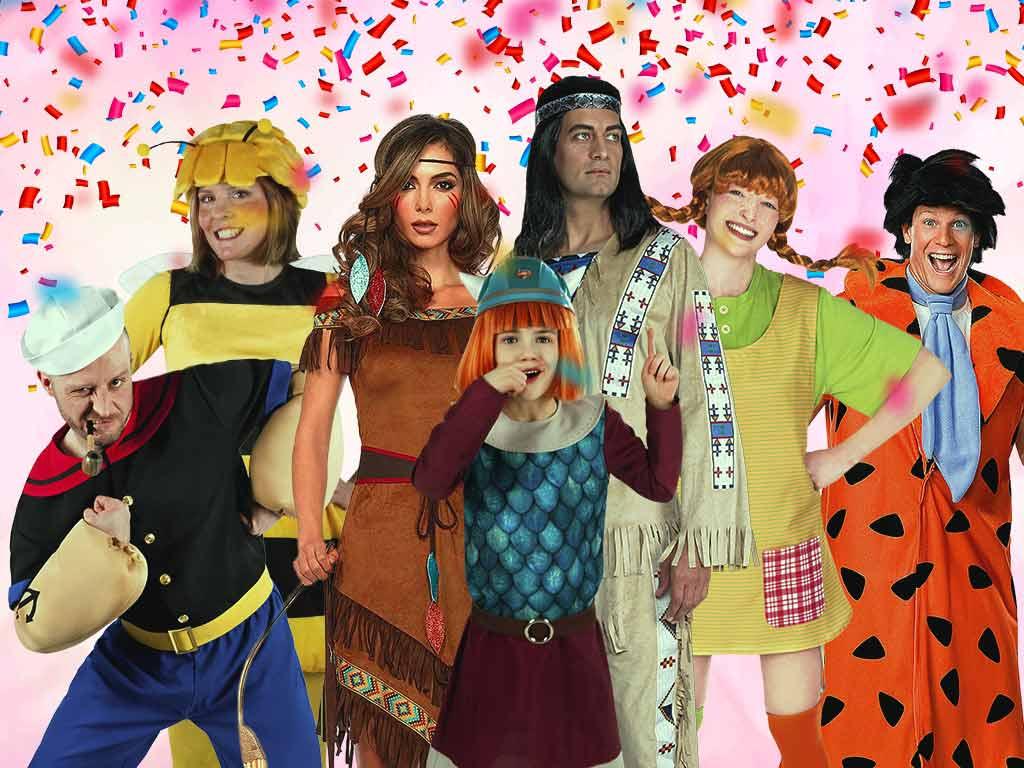 Die Stars der Kindheit sind voll im Trend bei den Karnevalskostümen. copyright: MASKWORLD