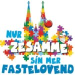 Das Sessions-Motto im Kölner Karneval 2020 / 2021: Nur zesamme sin mer Fastelovend copyright: Festkomitee Kölner Karneval