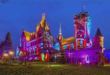 Schlossleuchten 2020 lädt zum Lichterspektakel auf dem Drachenfels copyright: Schloss Drachenburg gGmbH / Michael Boland