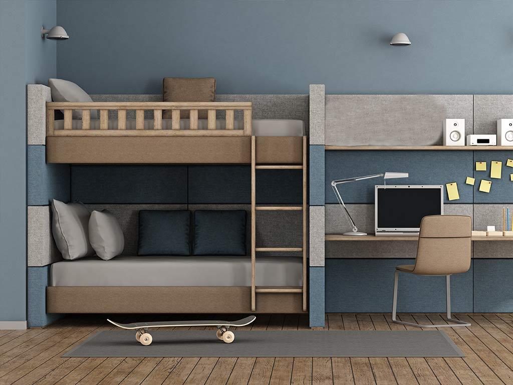 Effizienter wohnen: Platzsparende Möbel liegen im Trend - auch im Kinderzimmer. - copyright: Envato / archideaphoto