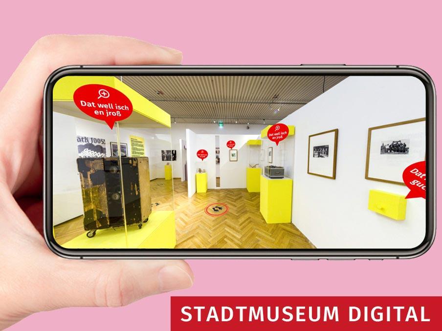 "Virtuelle ""Bläck Fööss""-Ausstellung mit interaktiven Funktionen copyright: Kölnisches Stadtmuseum / HHVISION Köln"