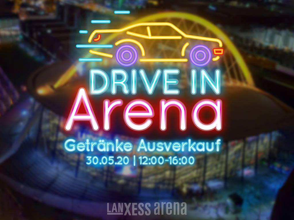 Per Drive-In Getränke und Co. in der Kölner LANXESS arena kaufen copyright: ARENA Management GmbH