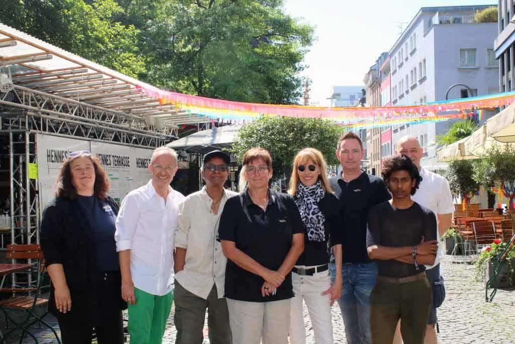 Der Vorstand des Kölner Lebsen- und Schwulen Tag. e.V. (KLuST) stellte auf einer Pressekonferenz am 06.08.2020 seine Pläne für den ColognePride und CSD in Köln vor. copyright: CityNEWS