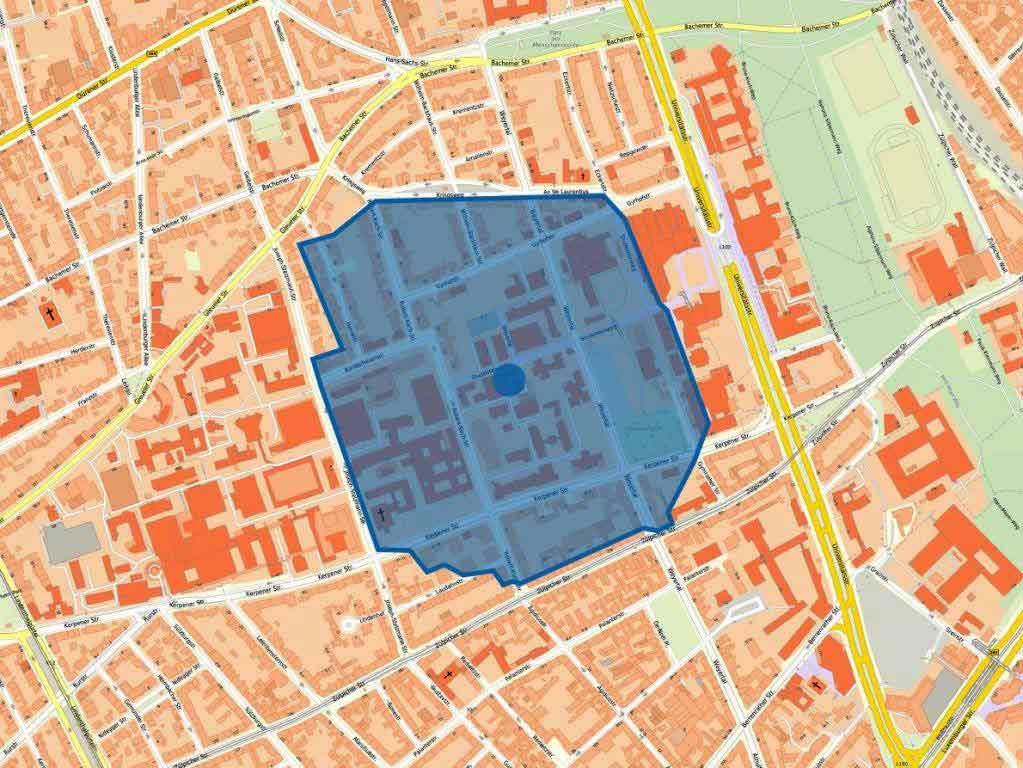 Der Gefahrenbereich rund um den Fundort der Bombe in Köln-Lindenthal wurde mit rund 300 Metern festegelegt.