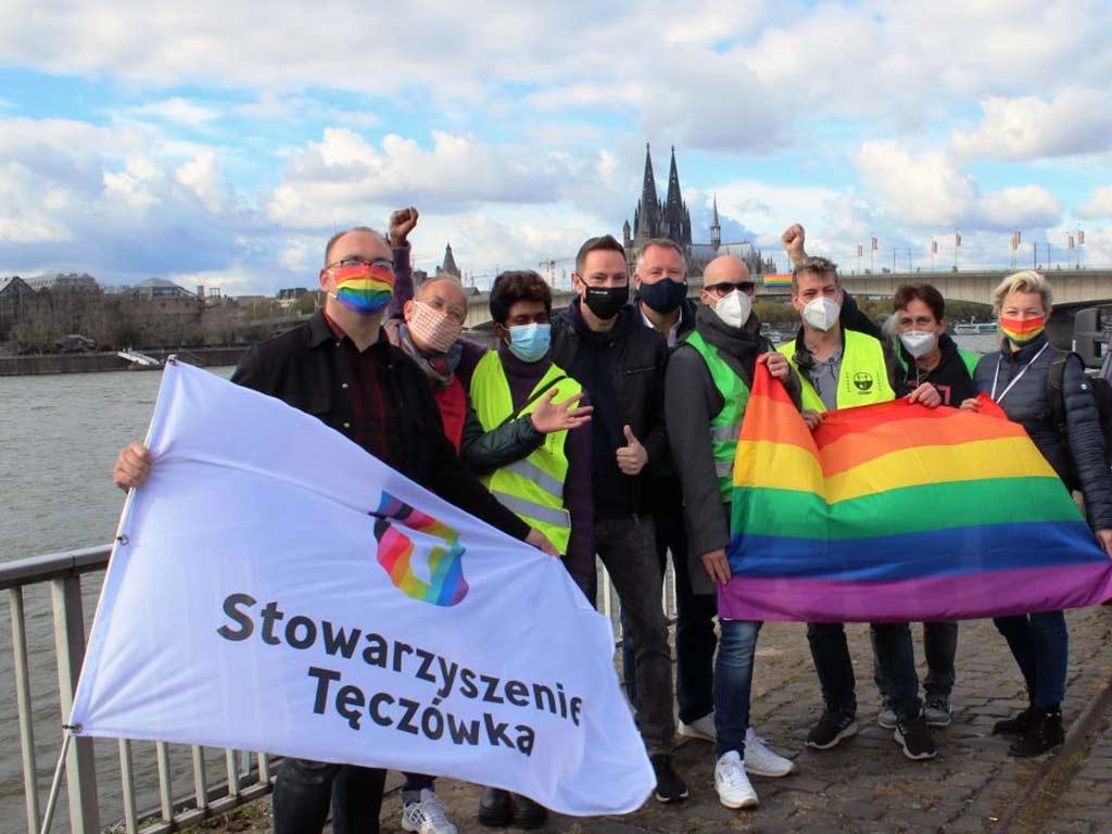 Der KLuST und seine Gäste zeigten sich zufrieden nach dem CSD-Wochenende in Köln.