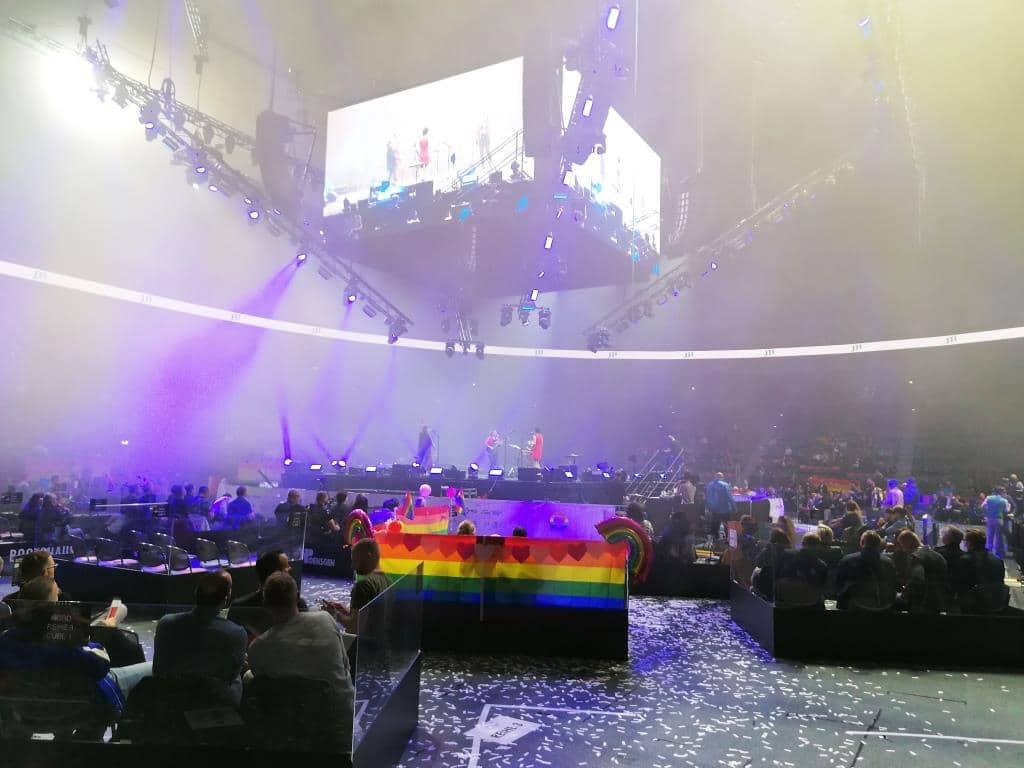 In der Kölner LANXESS arena fand ein Show-Programm statt.