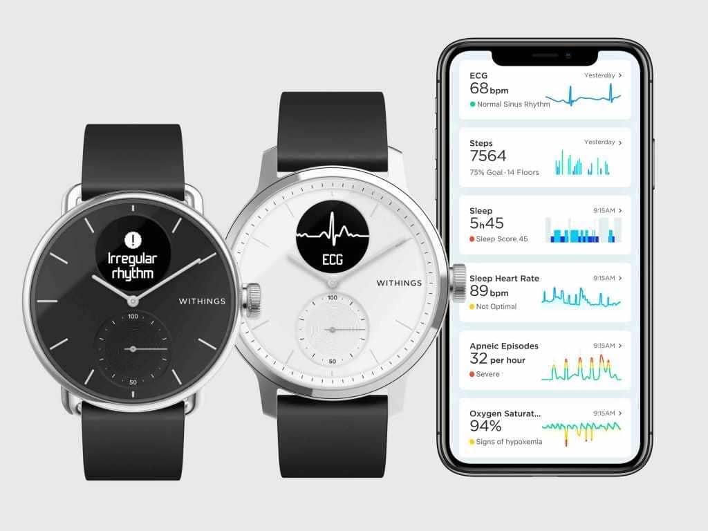 Die ScanWatch ist eine Hybrid-Smartwatch mit vielen Funktionen.