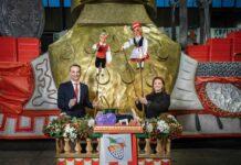 Holger Kirsch (Leiter Kölner Rosenmontagszug) und Frauke Kemmerling (Intendantin Hänneschen Theater) freuen sich auf den ausgefallensten Zoch, den die jecke Domstadt bisher gesehen hat.