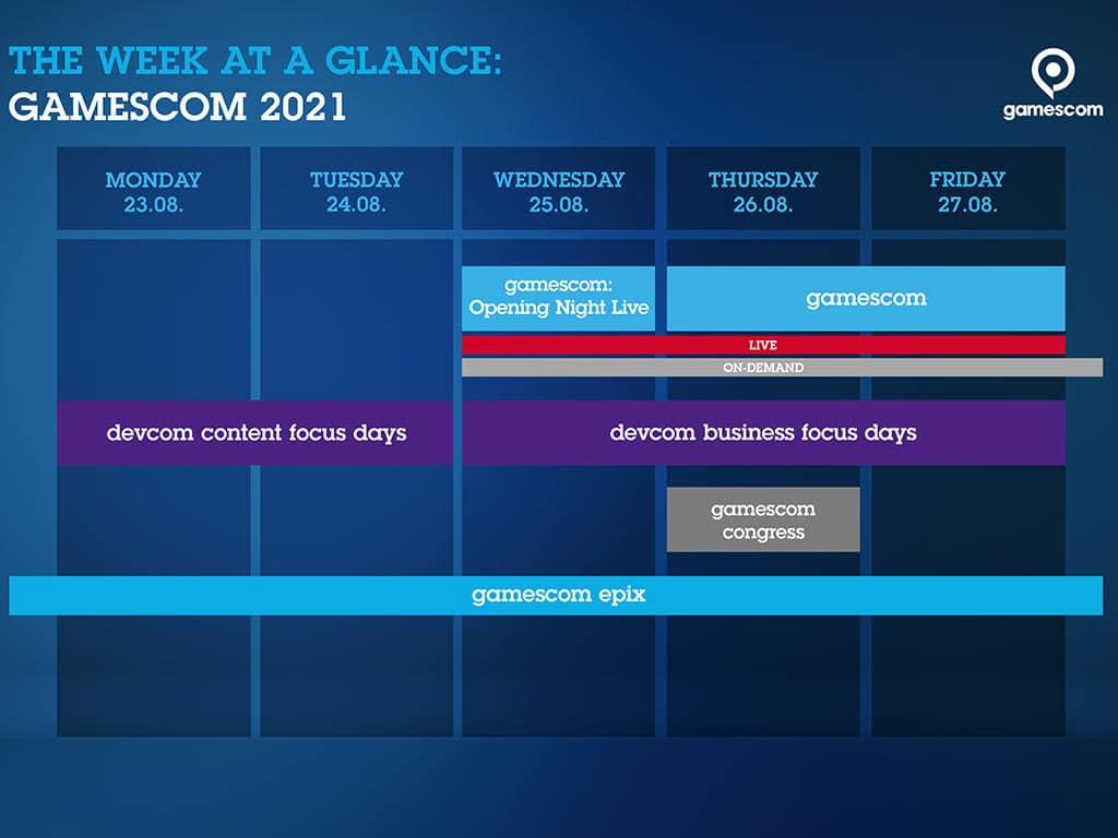 Die Woche der gamescom 2021 auf einen Blick - copyright: Koelnmesse GmbH